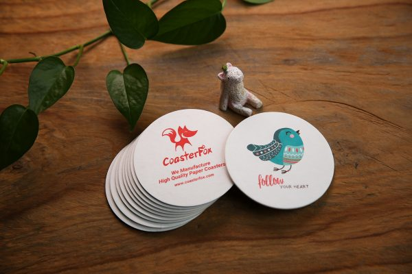Bird Pulp Board Coasters in Circle Shape